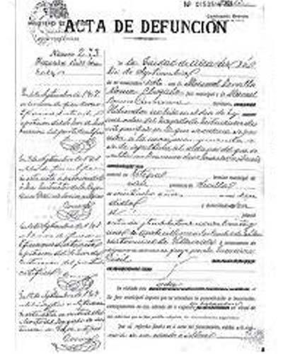 certificado defuncion